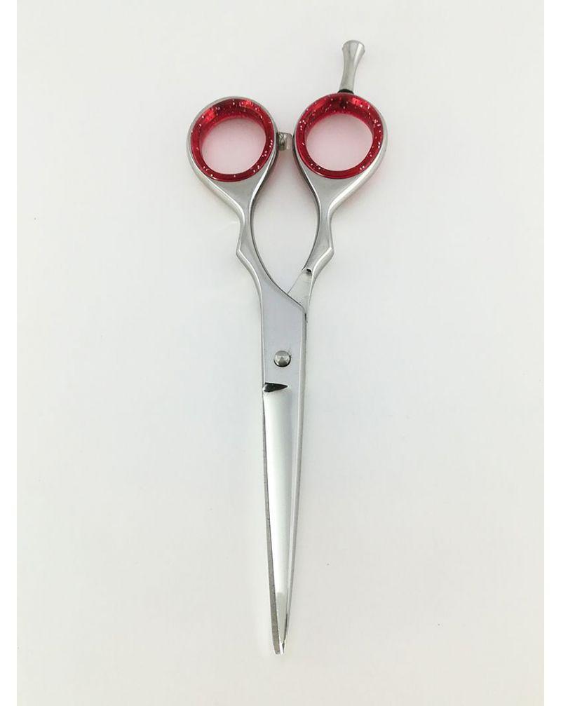 Paire de ciseaux de coiffure rouge