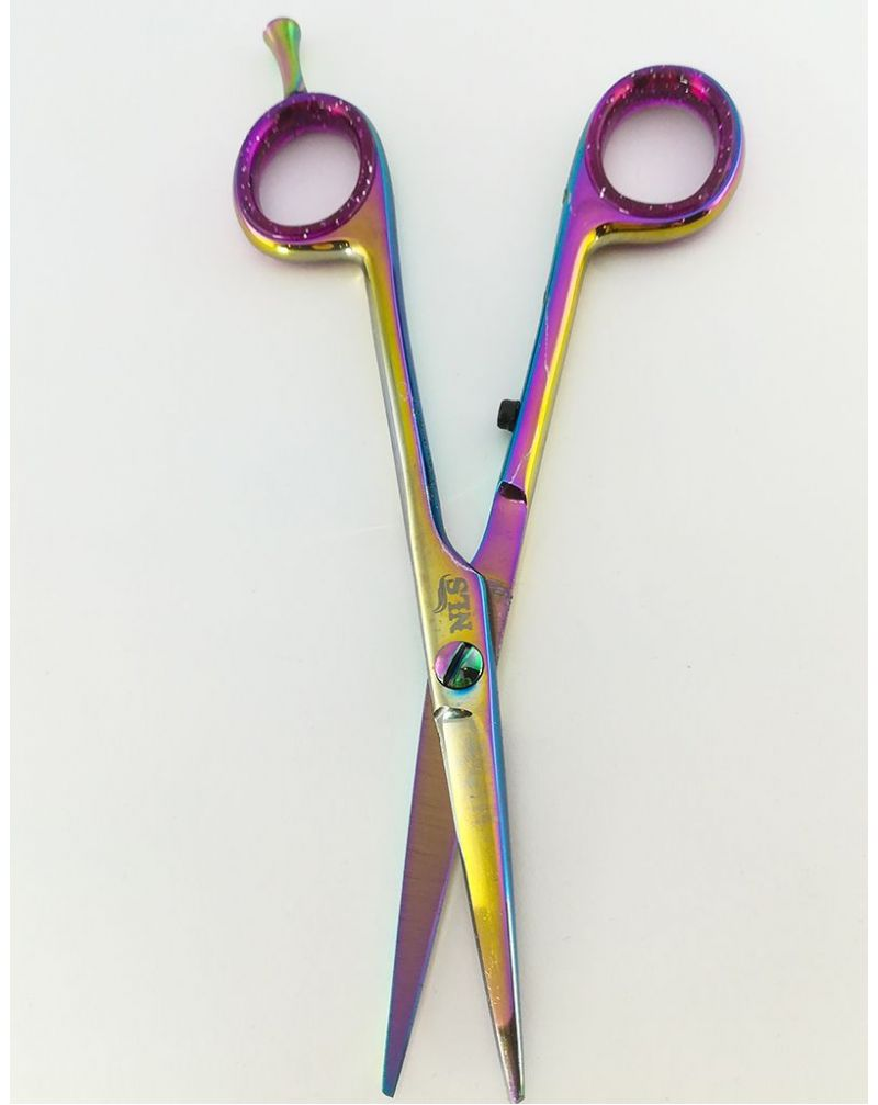 Paire de ciseaux de coiffure violette