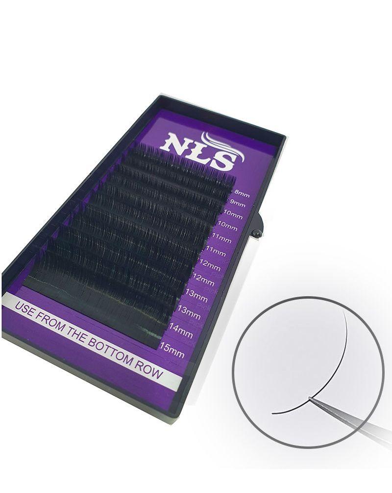 Cils en soie pour extensions cil-à-cil ou volume,  0,10mm