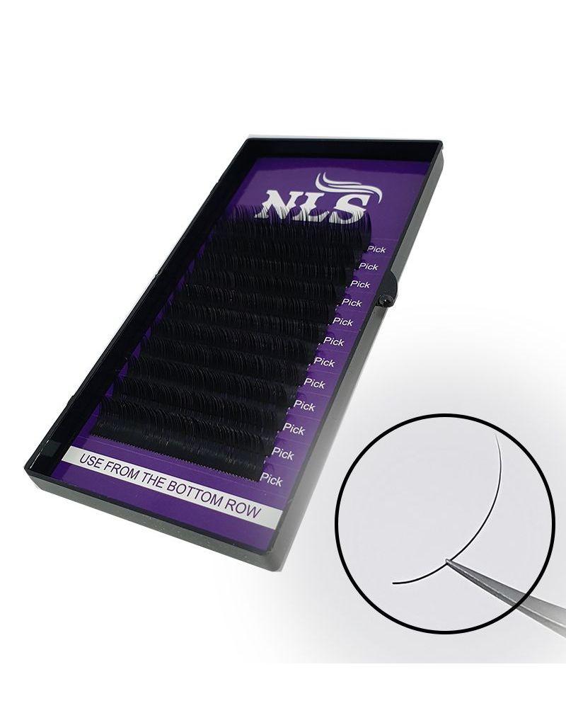 Cils en soie de longueur unique 12mm  pour extensions cil-à-cil ou volume