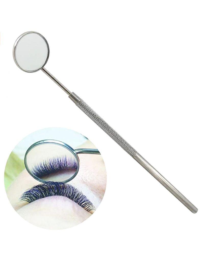 Miroir en acier pour extensions des cils