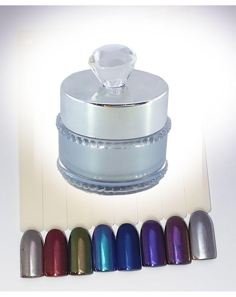 Poudre effet miroir pour nail art
