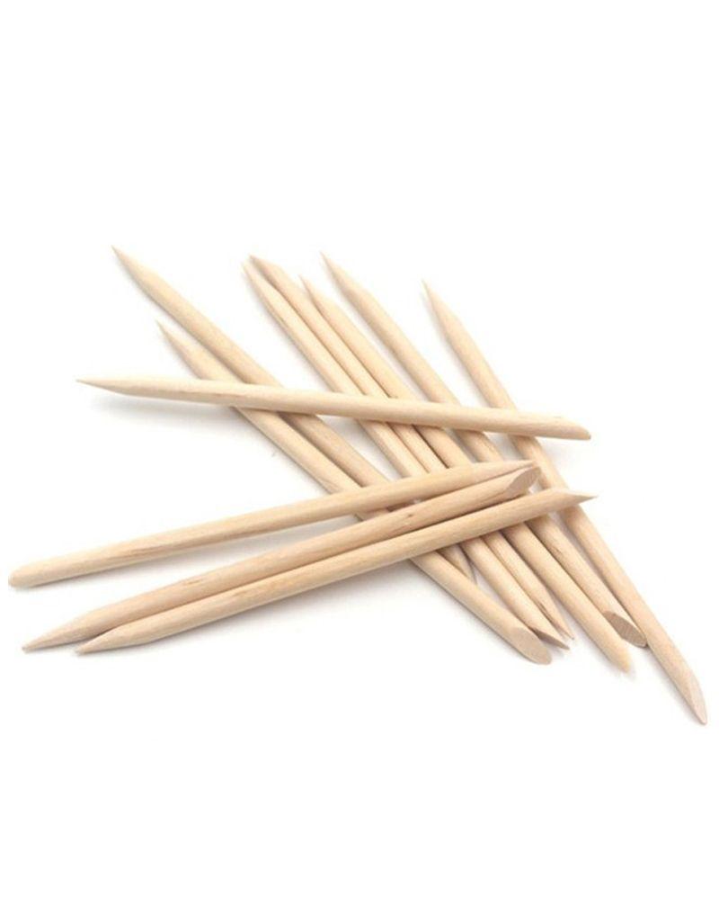 Bâtons pour les cuticules en bois