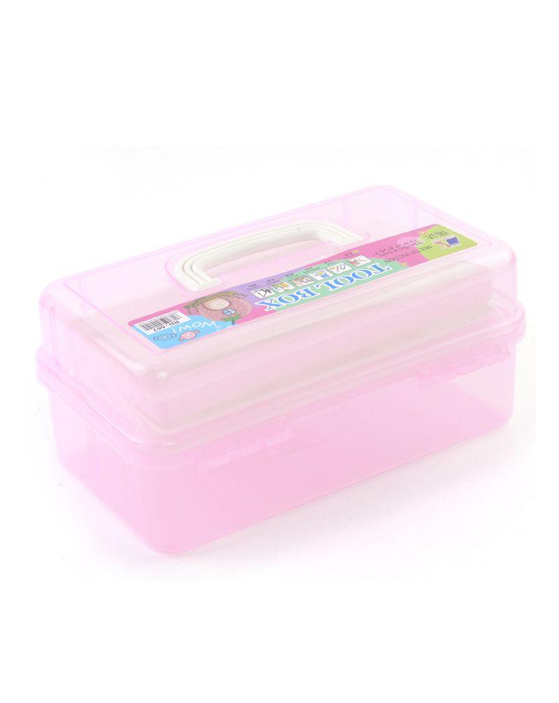 Boîte de rangement cosmétiques 2 niveaux