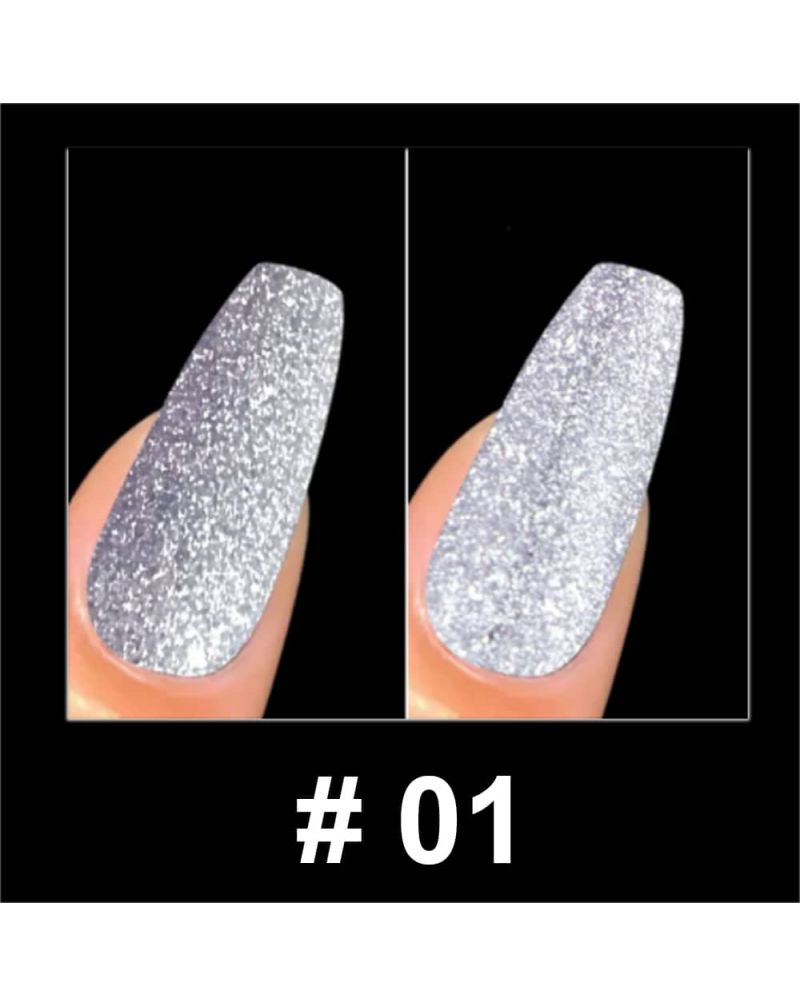 Vernis a ongles semi permanent Reflective glitter serie #01