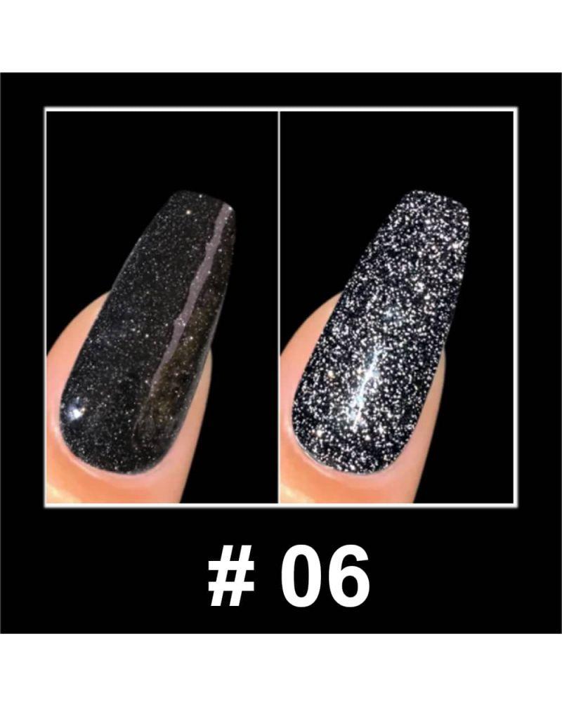 Vernis a ongles semi permanent Reflective glitter serie #06
