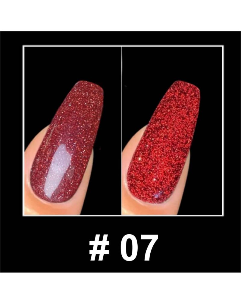 Vernis a ongles semi permanent Reflective glitter serie #07