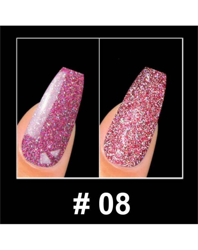 Vernis a ongles semi permanent Reflective glitter serie #08