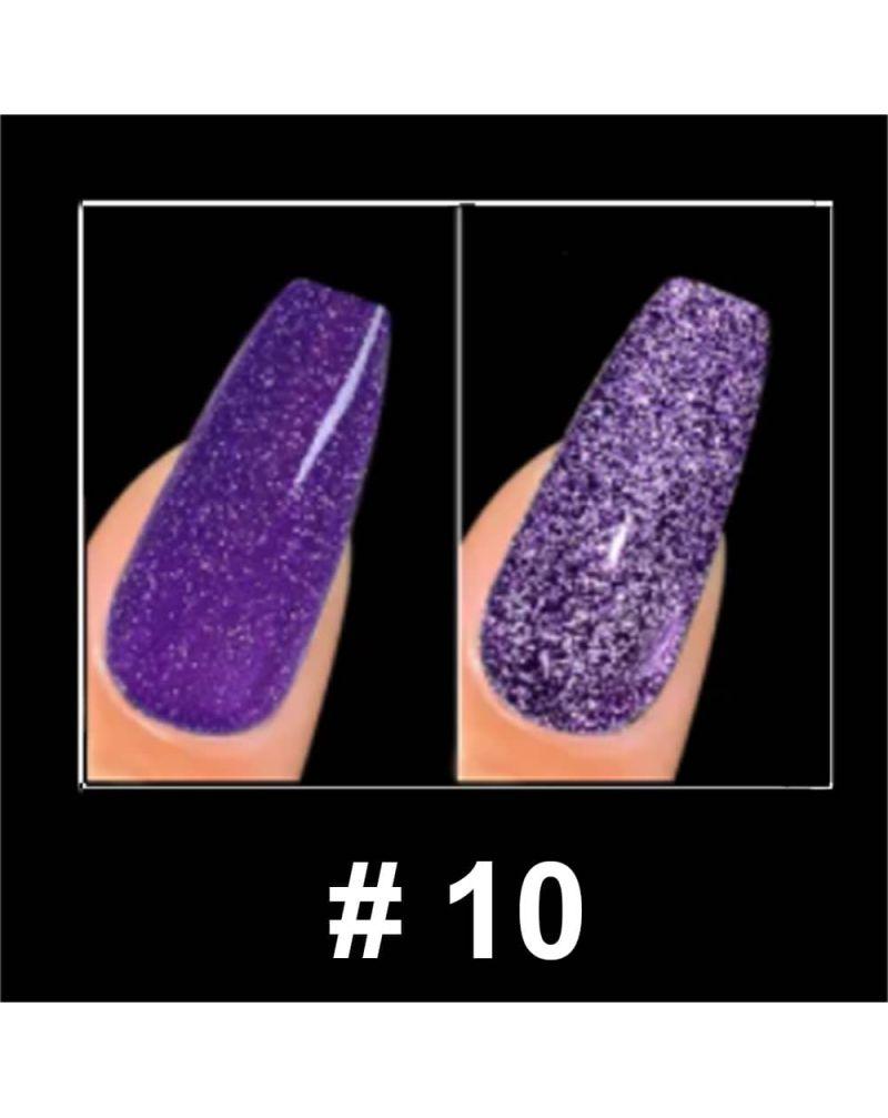 Vernis a ongles semi permanent Reflective glitter serie #10