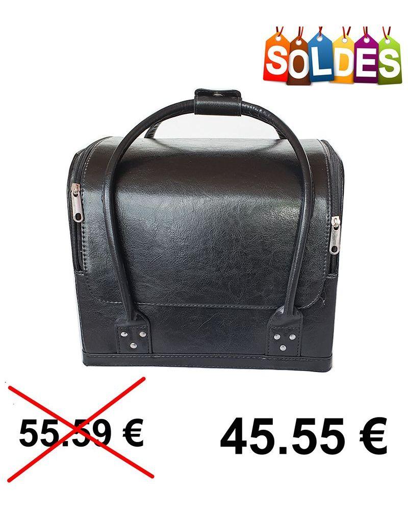 Mallette professionnel sac en cuir noir